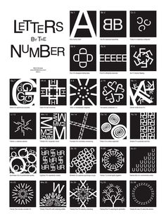"""""""letters by the number"""" bymark gonyea https://itunes.apple.com/book/id430405826?mt=11 #book #design"""