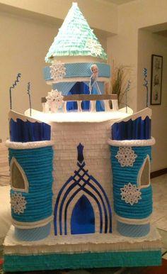 piñata castillo de frozen