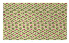 Butterfly Diamond Green/Pink Area Rug