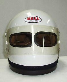 Vtg 70's Rare BELL XF-GP Auto/Drag RACING Helmet Formula 1 F1 Dual/Twin Eyeport | eBay