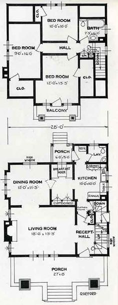 Modern House Plan   three bedrooms  large living room  separate     Standard House Plans  The Raeford  Quaint   a trifle quirky