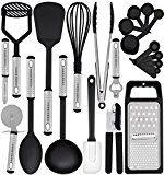 #6: Kitchen Utensil Set - 23 Nylon Cooking Utensils - Kitchen Utensils with Spatula - Kitchen Gadgets Cookware Set - Best Kitchen Tool Set Gift by HomeHero #commission #kitchen #gadgets #amazon