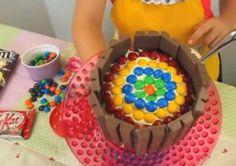 Decorate a Kit-Kat Rainbow Birthday Party Cake