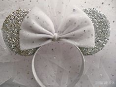 Part of your World Veil Minnie Mouse Bride to Be