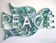 """""""Quiller Peace Dove"""" by Michelle of A Can of Crafty Curiosities - Beautiful quilling art!"""