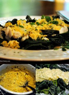 Cod and kale baked in foil packets with a spicy mustard sauce. http://motherrimmy.com/baked-cod-and-kale-recipe#more-21807 #recipes #weightwatchersrecipes