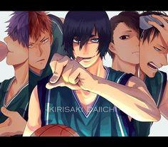 Kuroko no Basket - Kirisaki Daiichi High (霧崎第一高校) Kuroko No Basket, Makoto Hanamiya, Wattpad, Anime, Haikyuu, Basketball, Fan Art, Illustrations, Type