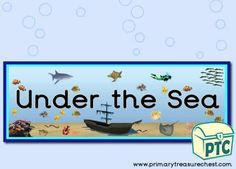Under the Sea / Sealife / Shipwreck Resources - Primary Treasure Chest Teaching Activities, Teaching Ideas, Classroom Banner, Ourselves Topic, Crafts For Kids, Arts And Crafts, Display Banners, Sound Art, Letter Sounds