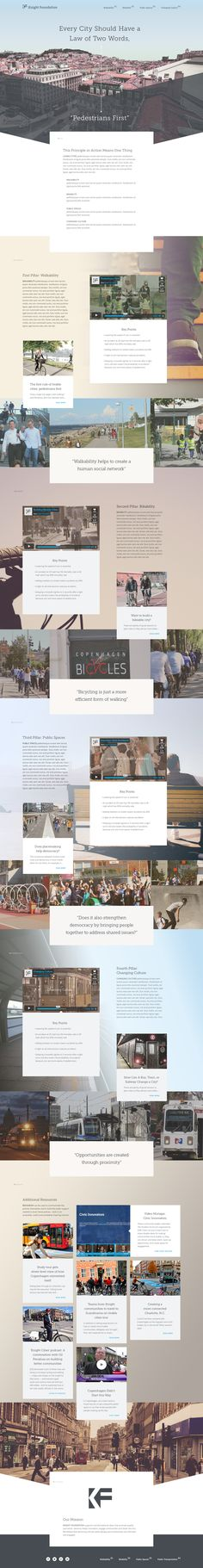 """""""Livable Cities"""" - nice website template. """"Every City Should Have a Law of Two Words: Pedestrians First"""" #template #website #city"""