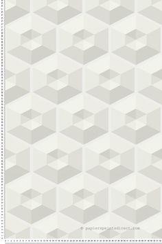 Hexagone blanc - Collection 3D Wall de Lutèce