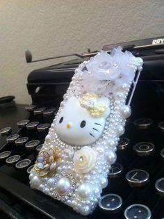 White Hello Kitty iPhone 4 Decoden Back Case by akikokim on Etsy. $59.95, via Etsy.