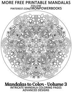 Free Printable Mandala Designs Follow Ironpowerbooks Or Order Your Copy At Adult Coloring Pages