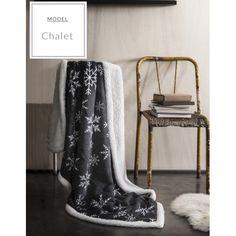 Kojenecká deka ve francouzském stylu tmavě šedé barvy s vločkami…
