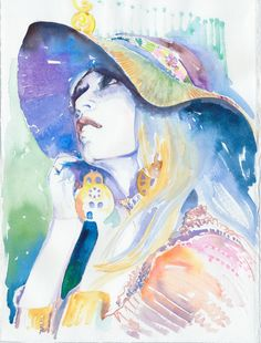 Cate Parr • Watercolor Fashion Illustration