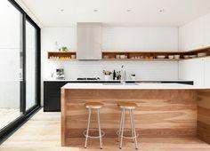 100 idee di cucine moderne con elementi in legno   Cucina moderna ...