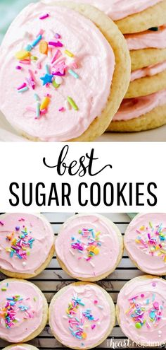 Super Soft Sugar Cookies - A tried and true recipe that has been made hundreds of times! This sugar cookie recipe works great with cookie cutters and bakes up nice and fluffy. Best served with buttercream frosting! #cookies #cookierecipes #cookiedecorating #sugarcookies #baking #frosting #recipes #homemade #iheartnaptime