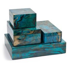 gift boxes luxury ocean blue high gloss boxes so beautiful one of over - Decorative Gift Boxes