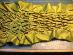 basket weave lattice smocking. What I'd like to use for cornucopia pattern