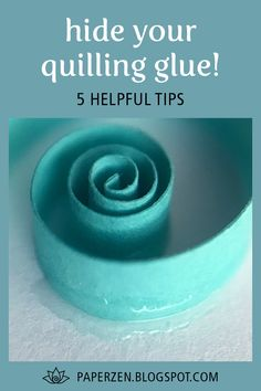 Hide Your Quilling Glue! Do you want your quilling to be clean and pristine? Use my simple tips to make … Paper Quilling For Beginners, Paper Quilling Tutorial, Paper Quilling Flowers, Paper Quilling Cards, Paper Quilling Jewelry, Easy Paper Flowers, Paper Quilling Patterns, Origami And Quilling, Quilled Paper Art