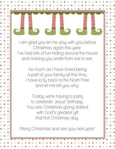 Letter from the Elf on a Shelf