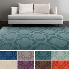 1. Artistic Weavers Hand-woven Ali Tone-on-Tone Moroccan Trellis Wool Area Rug (8' x 10') - Overstock Shopping - Great Deals on Artistic Weavers 7x9 - 10x14 Rugs