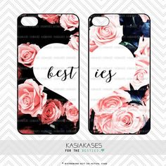 Best friends floral cases / cute roses bff trendy girly cases set iphone 6 plus, samsung set of 2 mix and match Best Friend Cases, Bff Cases, Friends Phone Case, Cute Cases, Ipod Cases, Cute Phone Cases, Iphone Phone Cases, Phone Covers, Best Friend Outfits