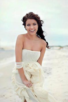 Ruffled cotton gauze destination beach  Wedding by whiteromance, $550.00