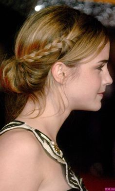 She has the best hair! :) Emma Watson