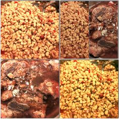 Sweet Corn Salsa With Slow Stove Top Cooked Sweet And Spicy Smothered Lamb  Chops.