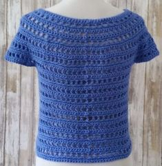 The pattern I'm bringing to you today is the Summer Berry Crochet Top. It is crocheted in the round, from the top down, with no seams! Crochet Shorts Pattern, Easy Crochet Hat Patterns, Crochet T Shirts, Crochet Jacket, Crochet Clothes, Knit Crochet, Crochet Summer Tops, Crochet Crop Top, Crochet Circles