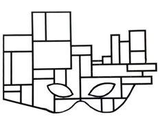 Mondrian e i numeri rettangolari, classe 2a - MaestraMarta Mondrian, Art Club, Company Logo, Home Decor, Kids, Learning Activities, Carnival, Art, Masks