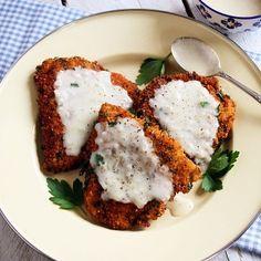 Crunchy Chicken Cutlets with Buttermilk Gravy