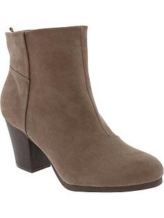 Womens Faux-Suede Ankle Boots