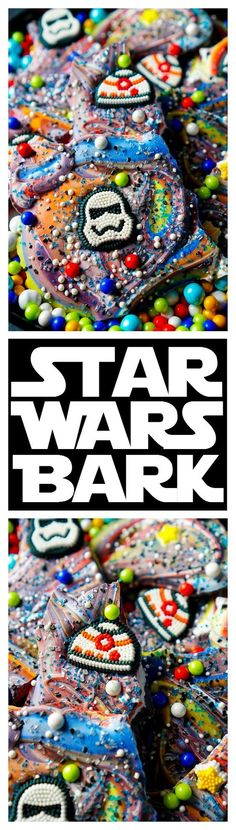 This Star Wars Bark is a simple and fun treat the kids will LOVE making! An easy no bake candy recipe that's perfect for birthday parties and movie nights!