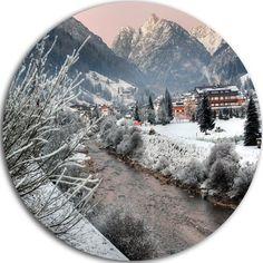 "DesignArt 'Dolomites Winter Italy' Photographic Print on Metal Size: 11"" H x 11"" W x 1"" D"