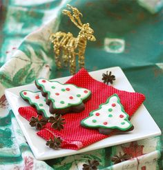 galletas de navidad: chocolate