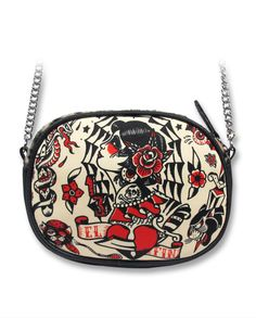 Liquor Brand Damen Tasche/Bag El Fin.Tattoo Biker,Pin Up,Oldschool,Custom Style