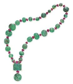 Image result for turquoise and ruby bead necklace