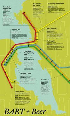 For beer lovers visiting San Francisco, a pub crawl by BART transit stops - San Francisco Chronicle