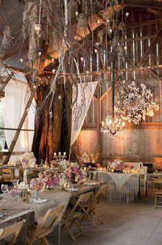 dusty rose barn wedding