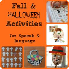 Speech Therapy Activities: Fall and Halloween - Pinned by @PediaStaff – Please Visit  ht.ly/63sNt for all our pediatric therapy pins