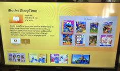 Apples iBooks StoryTime app for Apple TV will read to your kids Apple on Thursday released a new Apple TV application called iBooks StoryTime that brings childrensbooks to the TVs big screen. Kids can flip through the pages of the books on their own or switch on Read-Aloud narration which will sync the audio to the on-screen text and flip the pages for you.  The app which works on 4th generation Apple TV devices that have access to tvOSApp Store is a free download but the books themselves…