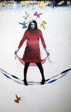 http://lespapierscolles.wordpress.com/2013/03/27/dominique-fortin/   Dominique Fortin #painting #couleur #illustration #graphisme #art