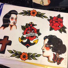 Flashes  por Melina Dias @melina.dias interessados contato por WhatsApp Direct ou Email... Galeria do Rock 1º andar Loja 228 #studiotat2 #galeriadorock #centrosp #tattoo2me #inspirationtatto #tattooflash #traditionaltattoo #tradicionaltattoo #oldschooltattoo #oldschool