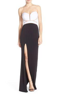 Abbi Vonn Abbi Vonn Illusion Jersey Gown available at #Nordstrom
