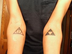 childhood, deathly hallows, harry potter, harry potter tattoo, nerd tattoo