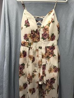 903cef8145 White Womens Floral Romper Dress Size Large  fashion  clothing  shoes   accessories