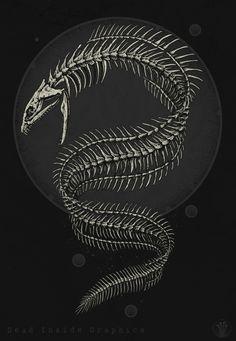 Eel skeleton by DeadInsideGraphics on deviantART