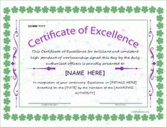 Certificate Of Excellence Template For MS Word DOWNLOAD At  Http://certificatesinn.com  Certificate Templates For Word