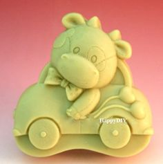 Cow In Car Flexible Silicone Mold/Mould For Handmade by HappyDIY, $9.99 Soaps, Silicone Molds, Smurfs, Flexibility, Cow, Unique Jewelry, Handmade Gifts, Character, Etsy